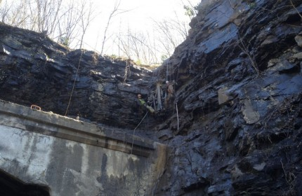 Welch Wv. Rock Fall high scaling